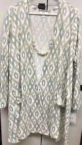 Llr Caroline Size Chart Details About Nwt Lularoe 2xl Cream Gray Light Sage Green Aztec Caroline Cardigan Sweater