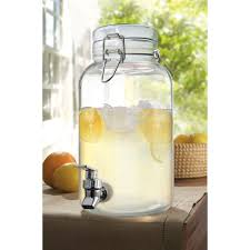 howling glass beverage main jay imports gallon clear mason glass beverage dispenser in glass beverage dispenser