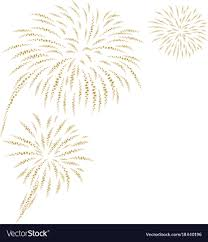 new years fireworks white background. Gold Fireworks On White Background Vector Image In New Years