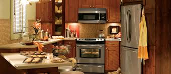 Great For Small Kitchens Cool Oak Wood Kitchen Cabinet With Microwave Shelves And White