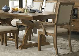 Rubberwood Kitchen Table Trestle Dining Table With Solids Rubberwood Distressed Sandstone