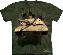 M1 Abrams Tank Breakthrough T-Shirt by The Mountain. US Army ...