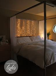 cozy ways to use string lights in