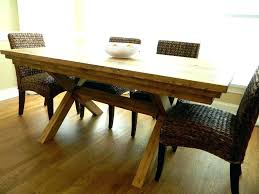 farmhouse table with white legs farm table dark top distressed