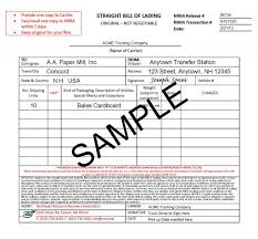 bill of loading bills of lading bols other forms northeast resource
