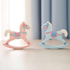 new hot wooden small rocking horse balance photography props home decor kids toys gifts children s room decoration crafts aji 914