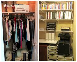home office in a cupboard. Inspirational Remodeling Organized Designs Before And After Closet Office Ideas From Clothes Organizing Home In A Cupboard