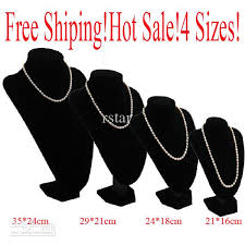 Black Velvet Jewelry Display Stands 100 Jewelry Stand Big Bust Necklace Bracelets Black Velvet 68