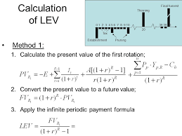 Periodic Payment Formula The Land Expectation Value And The Forest Value Lecture 6 4 20 2016