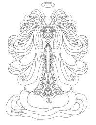 Angel Coloring Pages Adult Coloring Detailed Beautiful Angel For