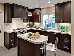 perfect way to create a visually airy small kitchen design the wood of
