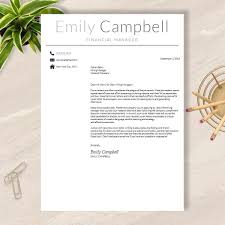 Resume Template Cv Template For Word Pages No 003