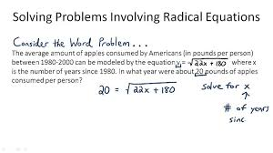 solving radical equations word problems worksheet tessshlo