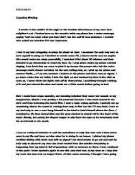 A nightmare story essay