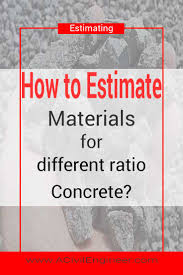 Concrete Measuring Chart How To Calculate Materials For Different Ratio Concrete A