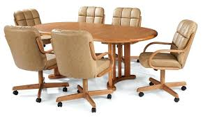 dining room chairs with arms and wheels brilliant marvelous dining room sets with wheels on chairs dining