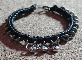 custom made bracelet anklet men s bracelet braided black leather cord with silver beads