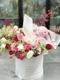 the secret garden fl box a romantic and lovely valentine s 2019 arrangement of tulips hydrangeas and suitable filler flowers