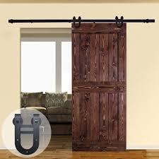 4ft 20ft horseshoe shape double wheel sliding barn door hardware closet kit for single door