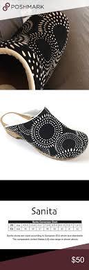 Sanita Shoe Size Conversion Chart Sanita Womens Clogs Sz 40 White Black Suede 9 5 10 Sanita