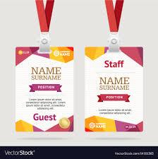 Company Id Badge Template Id Card Template Plastic Badge