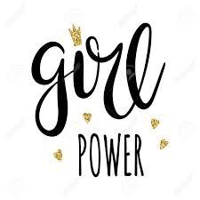 Girl Power Lettering Feminism Slogan Black Inscription Suitable