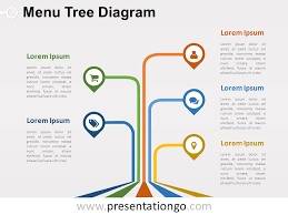 Tree Powerpoint Template Menu Tree Powerpoint Diagram Presentationgo Com Powerpoint
