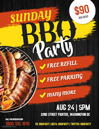 Barbecue Flyers Barbecue Event Schedule Flyer Custom Template Party Poster