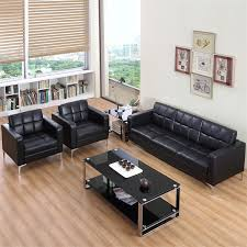leather office couch. office sofa commercial furniture hotel coffee shop pu three pieces sets leather couch