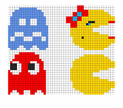 8bit Pacman Ghosts Pt2 Perler Bead Pattern Bead Sprite