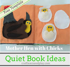quiet book patterns and ideas mother hen with s