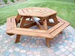 round wood picnic table round picnic table top class circular picnic table bench outdoor make a