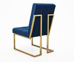 goldfinger navy dining chair by jonathan adler model max obj
