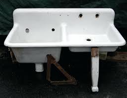 vintage kitchen sink cabinet. Beautiful Sink Vintage Porcelain Sink Kitchen Best Home Furniture Ideas L  Retro Fresh In Modern Farmhouse With Drainboard Cabinet