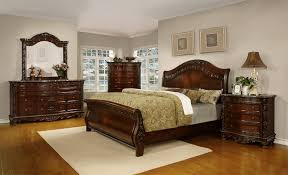 Home Furnishings Fairfax Home Furnishings Patterson Sleigh Bedroom Set In Rich Pecan