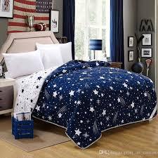 cotton pattern blue sky stars gift elegant and comfortable design bedding set duvet cover pillowcase double king sateen duvet cover blanket covers from