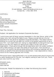 Collection Of Solutions Cover Letter Company Secretary In Pany