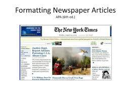 ppt formatting newspaper articles apa