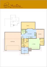sample 3 floor plan home draw