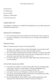 Skill Based Resume Samples Skills Based Resume Template Net ...