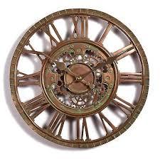 outdoor indoor garden wall clock copper plate effect 30cm slate effect 1116