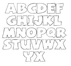 Templates Alphabet Letters Alphabet Letter Template For Kids Templates Printable