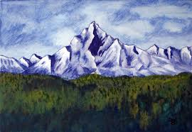 painting of an imaginary mountain