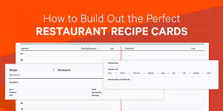 Recipe Card Templates Free How To Build Out The Perfect Restaurant Recipe Cards Free