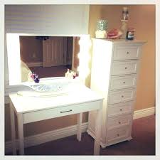 white desk vanity makeup desks likable table with lighted mirror awesome exterior for