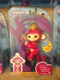 FINGERLING INTERACTIVE BABY Monkey WowWee with stand Bella Pink ...