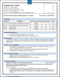Download Sample Resume In Pdf For Freshers Resume Templates