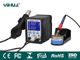 <b>YIHUA</b>-995D/<b>995D+</b> LCD SMD Hot Air <b>Rework Station</b> with ...