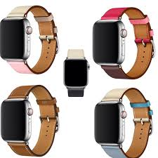 series 4 3 2 1 genuine leather band for apple watch single tour band wrist strap bracelet for iwatch leather loop 44 42 40 38mm