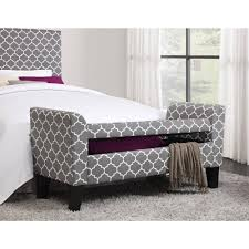 dorel home products trellis pattern storage bench greywhite